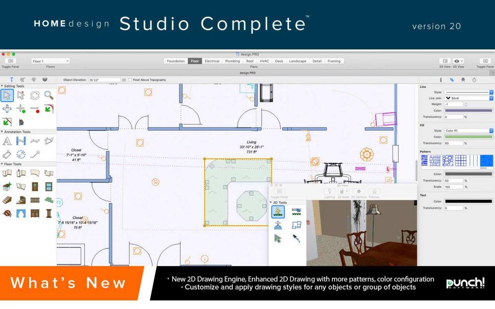 Punch Home Design Studio Complete For Mac V20 Upgrade From Landscape Or Interior Design Any Version