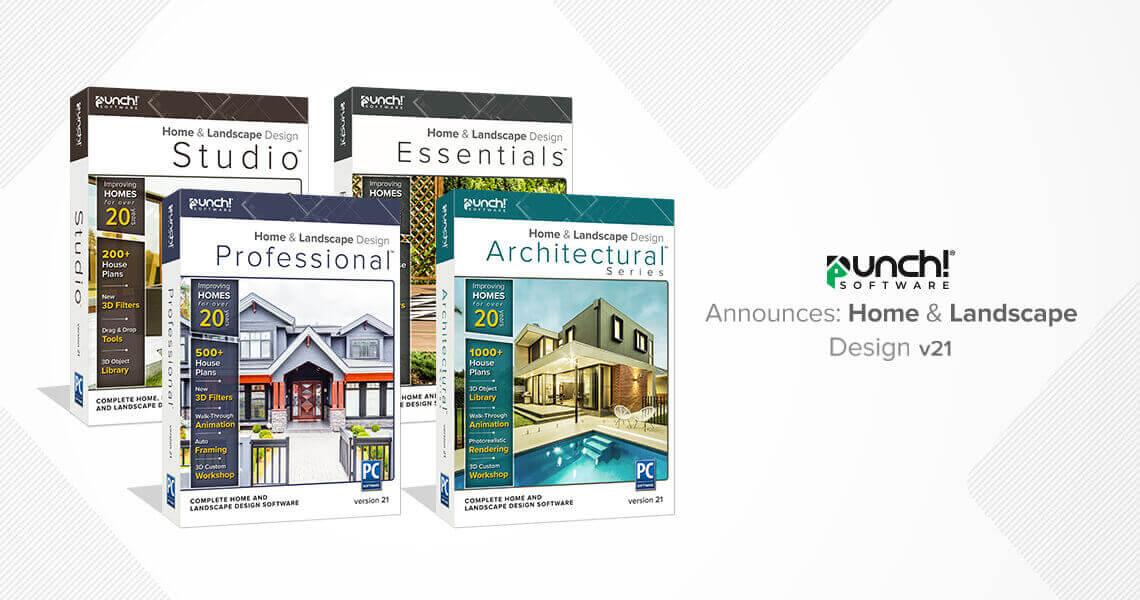 ENCORE SOFTWARE ANNOUNCES PUNCH!® HOME & LANDSCAPE DESIGN v21
