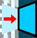 Flip mirror icon