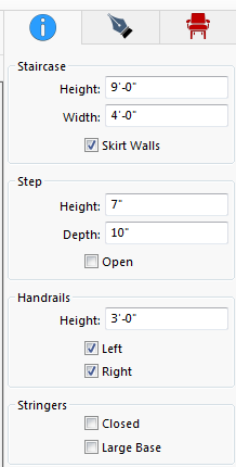Easily draw, and modify stairs, in Punch Software!