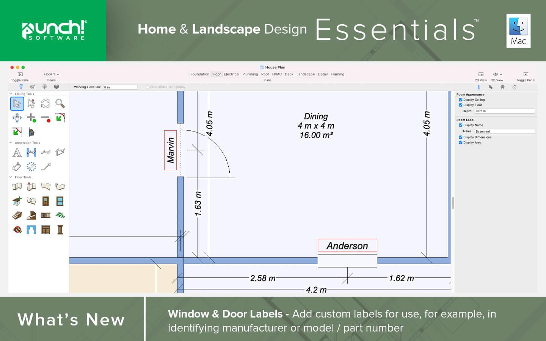 Window and door labels